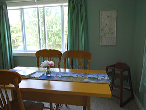 Bar Harbor rental apartment Dining area